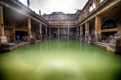 The Roman Baths, Bath, England by CamelKW