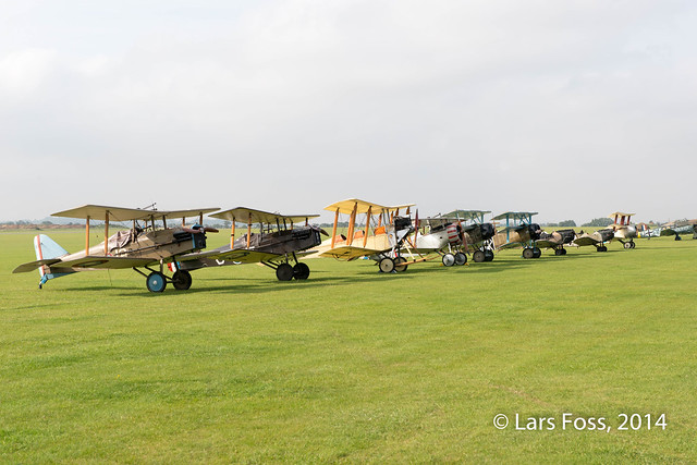 The Great War Display Team lined up