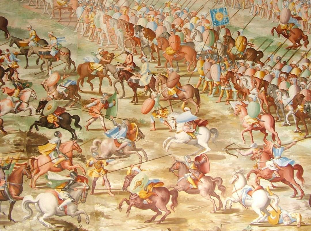 11. Enfrentamiento con las tropas musulmanas. Autor, Ian Pitchford