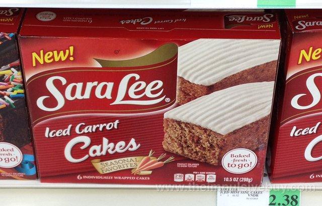 Sara Lee Seasonal Favorites Iced Carrot Cakes