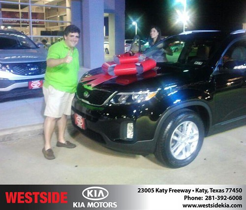 Thank you to Raul  Elorduy on the 2014 Kia Sorento from Gil Guzman and everyone at Westside Kia! by Westside KIA