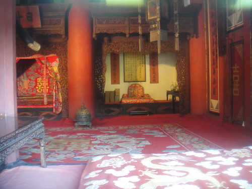 The emperor's room. He had a different concubine to sleep with every night for 100 days! If I remember correctly... lol. Lucky b******