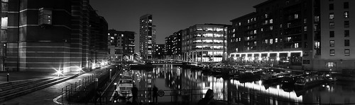 Clarence Dock - Leeds (Mono Photostitch) by Mark Winterbourne | No More Dead Pixels