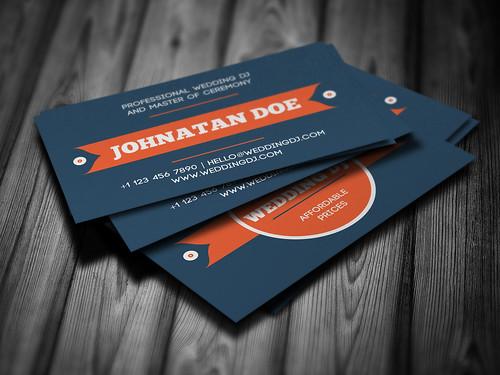 Wedding DJ Business Card