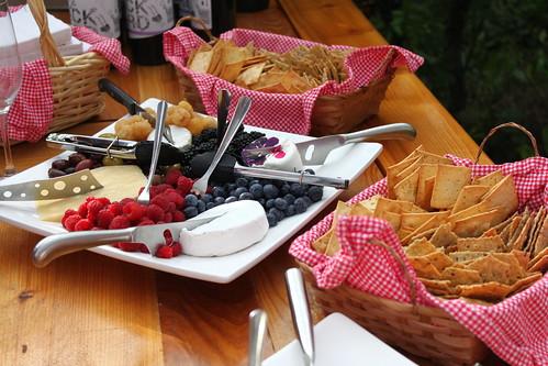 Snacks at Backyard Vineyards