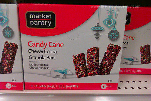 Market Pantry Candy Cane Chewy Cocoa Granola Bars