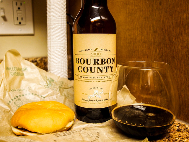 Bourbon County Vanilla 2010 + McDonalds