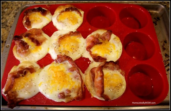 Bacon, Egg, & Cheese Crescent Muffins