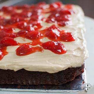 Devils Cake Strawberry Nutella