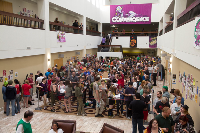 A crowd of people at CONvergence
