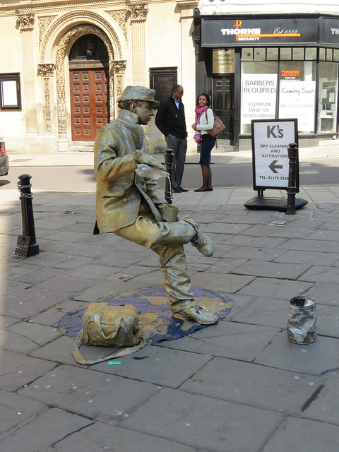 Street performer in Bristol