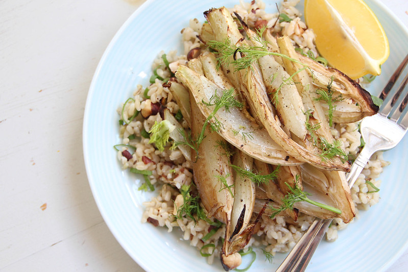 Roasted fennel and jazzy rice