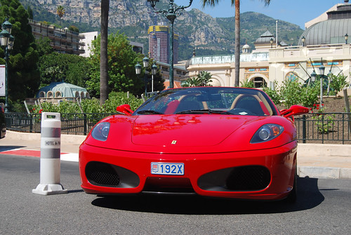 Luxurious cars in Monaco