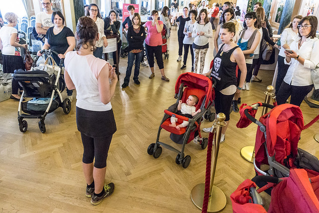 sessioni di fitness durante il Baby Shower Party