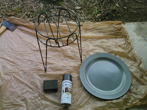 How to make an outdoor side table…