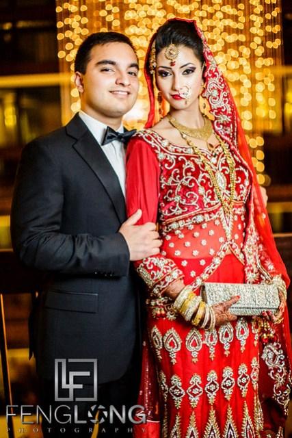 Bride and groom portrait before wedding