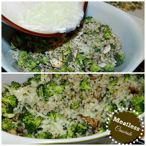 Broccoli, Mushroom & Rice Casserole