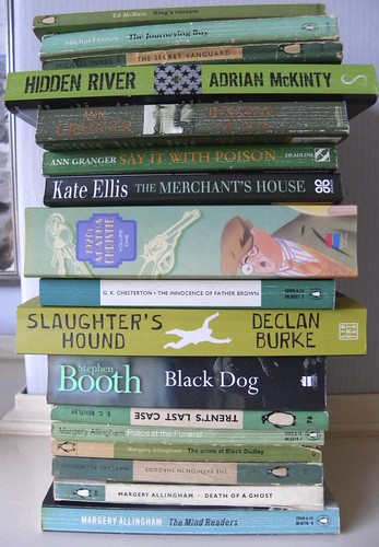 Green book spines