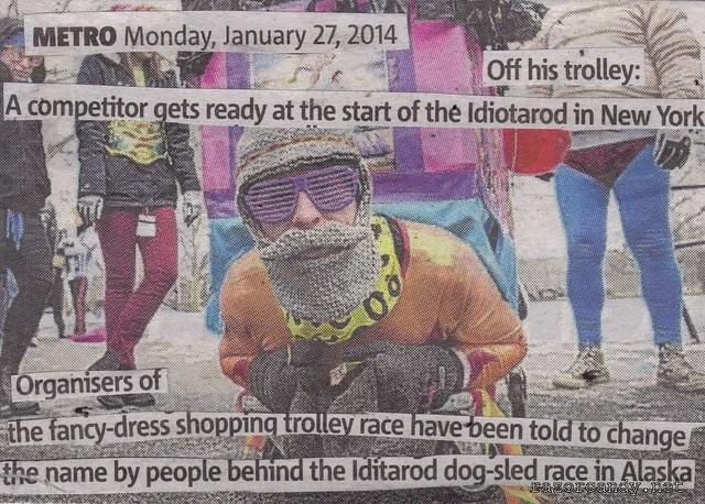 Idiotarod Shopping Trolley Race Competitor (2)