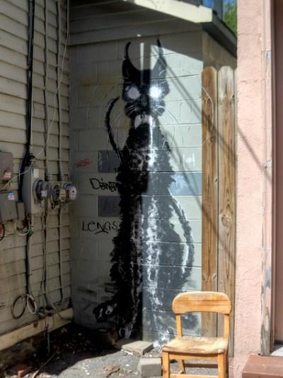 Black Cat Street Art - Sweet and Savoring