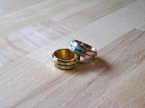 His & Hers dice rings by woodelph