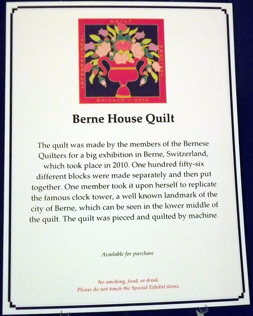 IQF Chicago 2013 - Berne House Quilt by members of the Bernese Quilters