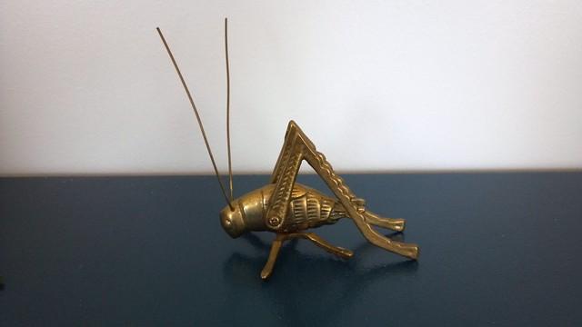 brass grasshopper