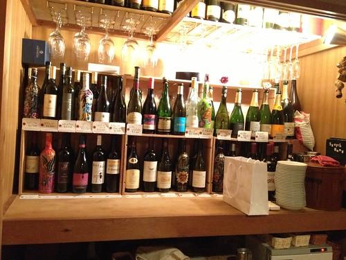 押し入れを改装したワインカウンター@笹塚バル スケッチ
