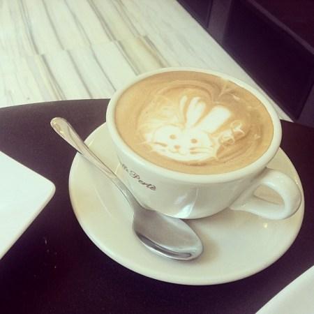 Bunny latteart