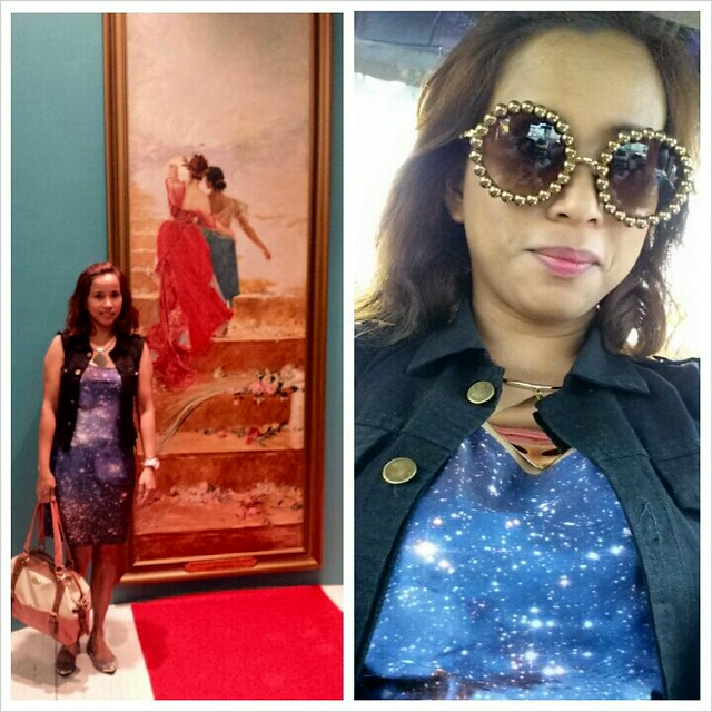 Galaxy Dress and Fun Sunnies from Romwe