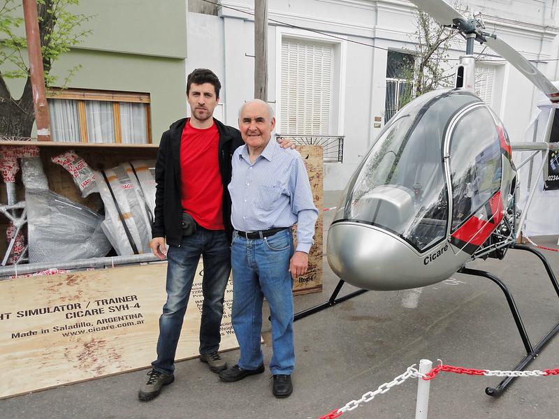 Indalecio Sabbioni y Augusto Cicaré