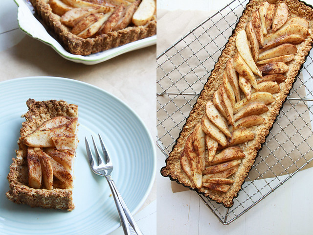 spiced pear tart