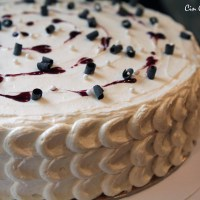 Buttermilk Cake with Blackberries and White Chocolate Buttercream [recipe]