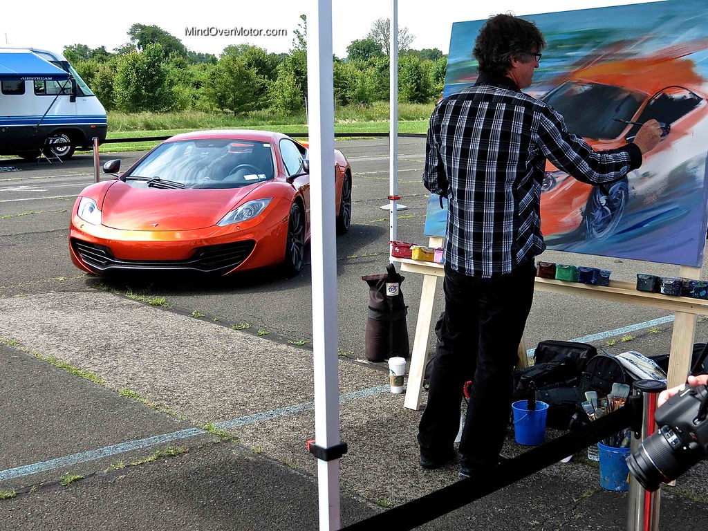 Mclaren MP4-12C being painted