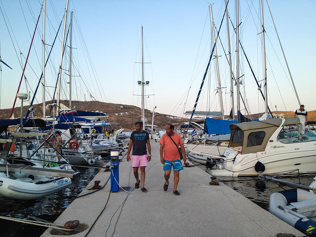 Vassilis with another skipper