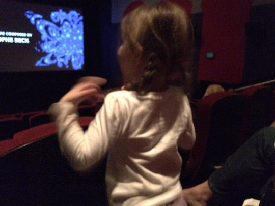 singing along at Frozen