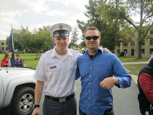 Trent Sisco with his military friend
