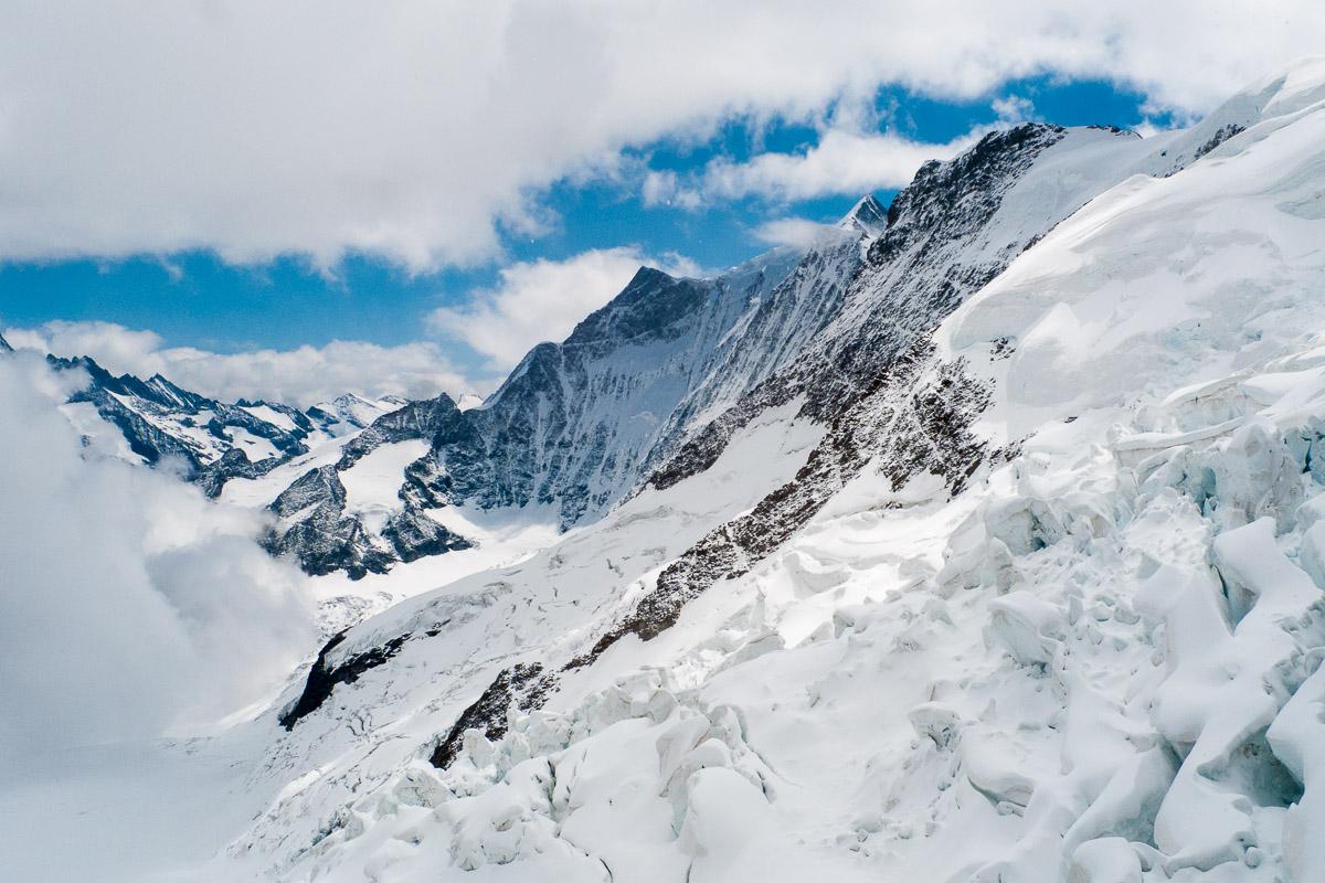 Seracs en el Jungfraufirn