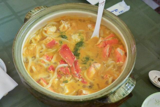 King crab udon