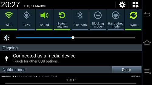 Notifications กับ QuickSettings ของ Samsung Galaxy Camera 2