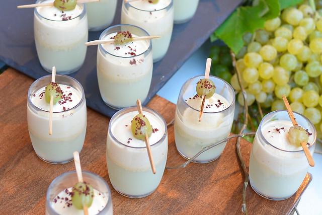 Cavallo Point white gazpacho, sea urchin, frozen champagne grapes