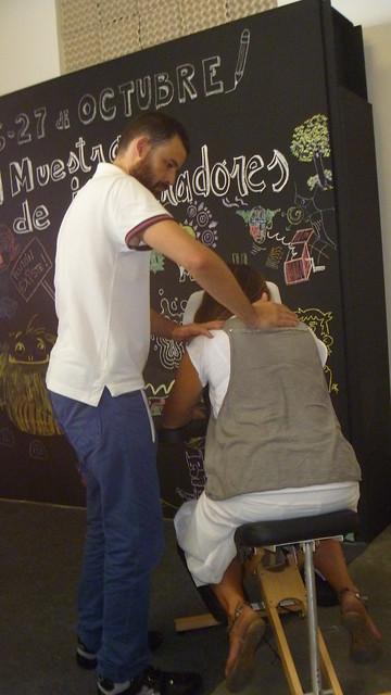 masaje en silla murcia