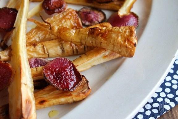 Panais et radis red meat rôtis