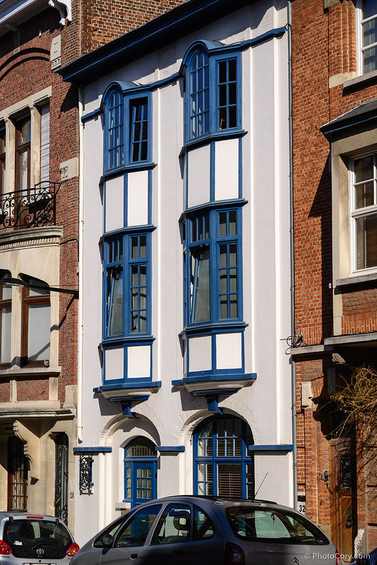 white and blue house ixelles brussels