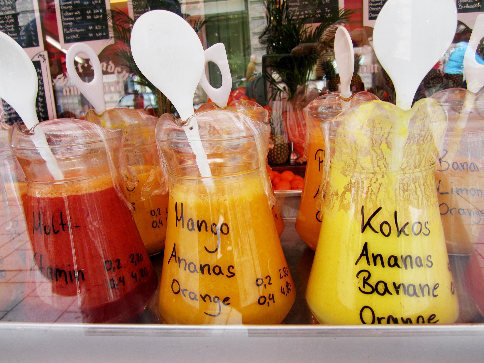 Juice stand, Viktualienmarkt, Munich.