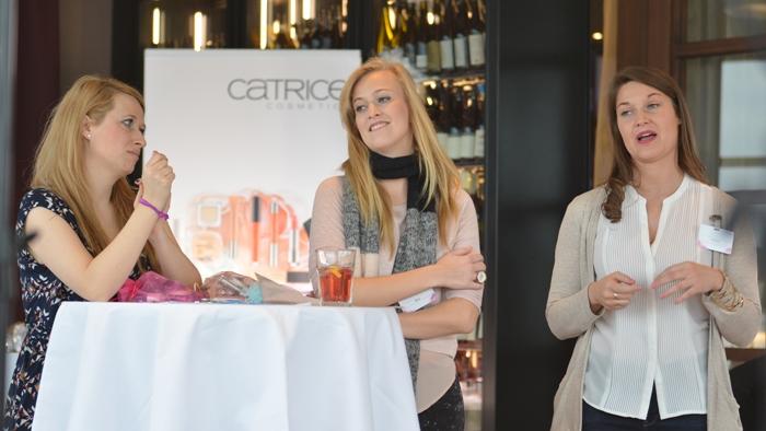 Patricia, Kira, Christine essence catrice cosnova essence & CATRICE Blogger Event in Wien 04