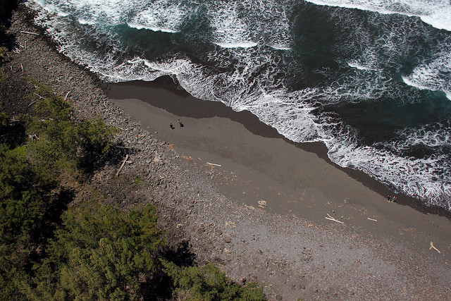 Two and Two on a Black Sand Beach