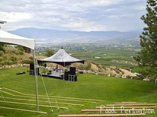 Stage at Tinhorn Creek