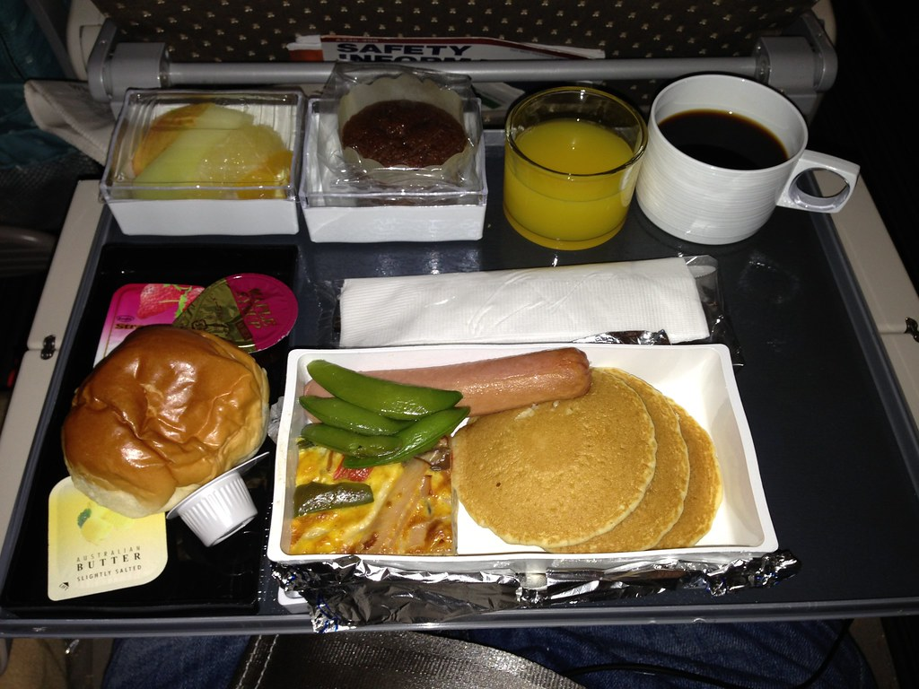 Hotcakes Breakfast on Singapore Airlines