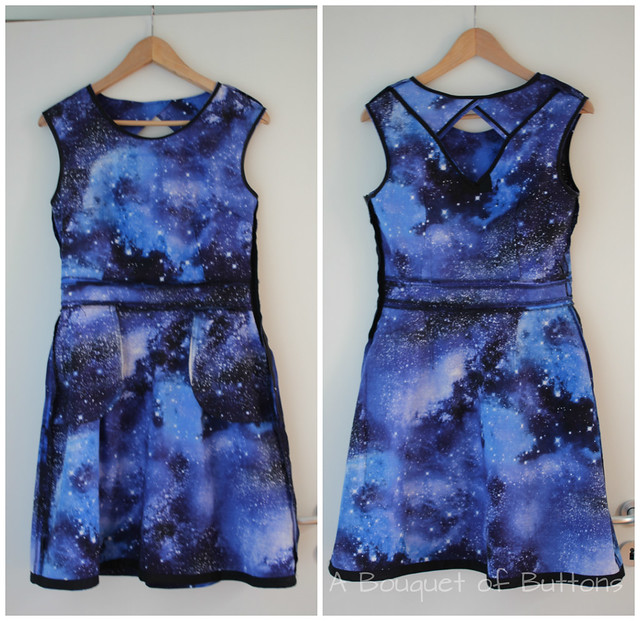 Galaxy, dress, jurk, Timeless Treasures, Belladone, Deer & Doe